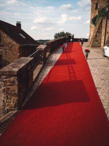 Roter Teppich zum Abiball