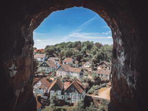 Ausblick auf der Burg Blankenstein