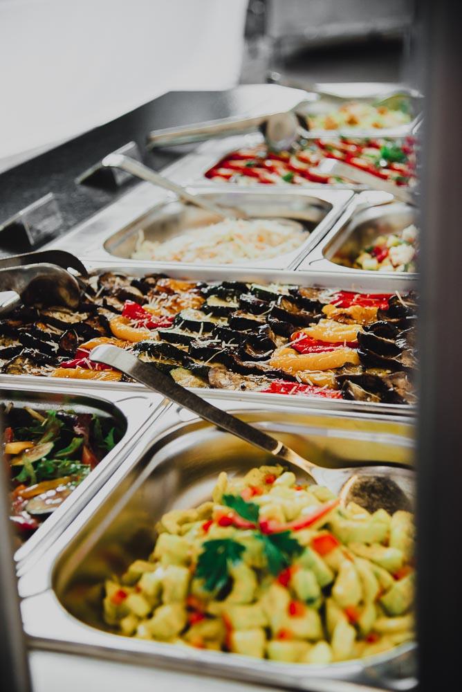 Exquisites Salatbuffet der Burg Blankenstein