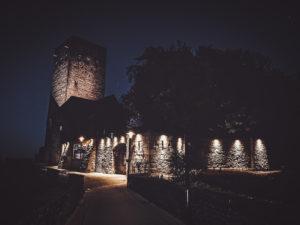 Die Burg beleuchtet